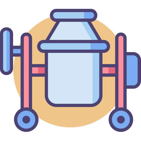 Line vector icon illustration of concrete mixer Zdjęcie Seryjne - 126777675
