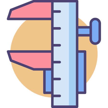 Line vector icon of caliper illustration Иллюстрация