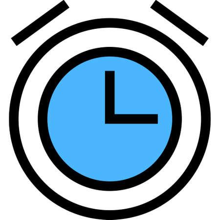Outline vector icon illustration of alarm clock