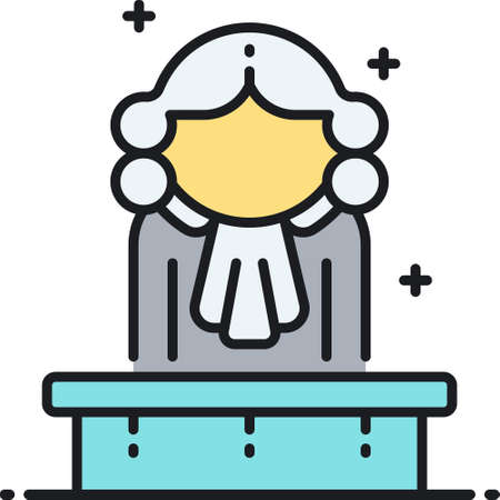Outline vector icon of a judge illustration  イラスト・ベクター素材