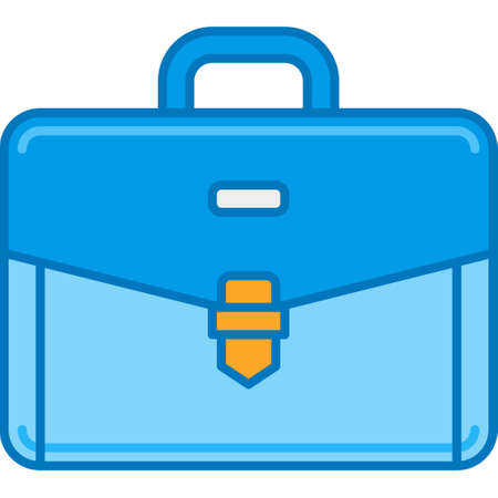 Flat vector icon illustration of a briefcase. Business service concept for story highlights cover.
