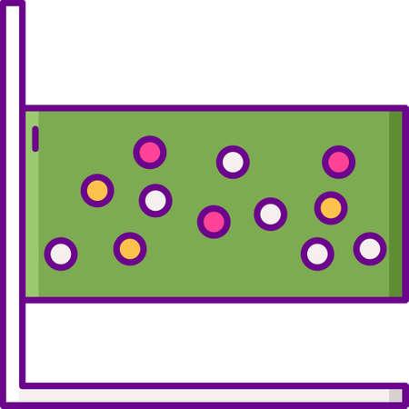 Flat vector icon illustration of scatter plot diagram