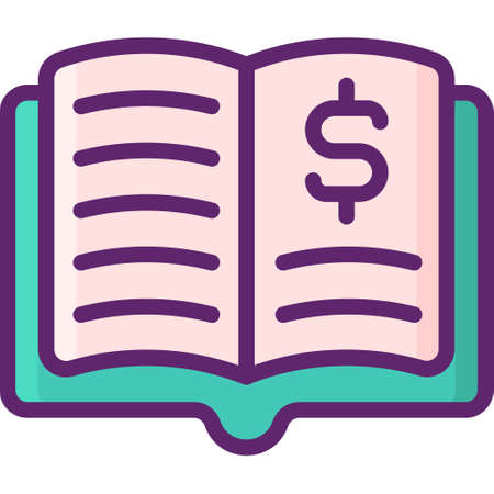 Flat vector icon illustration of book value. Investing concept. Illustration