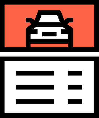 Line vector icons illustration of car wash package pricelist