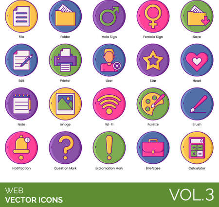 Line icons of web navigation button, elements, UI, pictogram, for website and app
