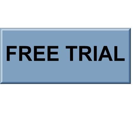 Free trial button Reklamní fotografie