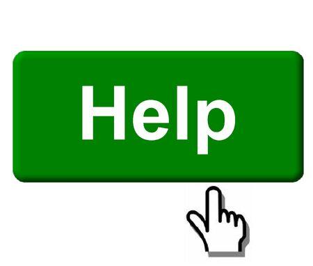 Help Button Reklamní fotografie