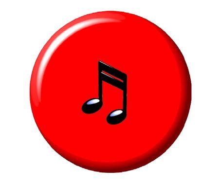 Music Button Reklamní fotografie