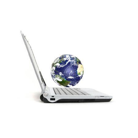 Computer & Earth photo