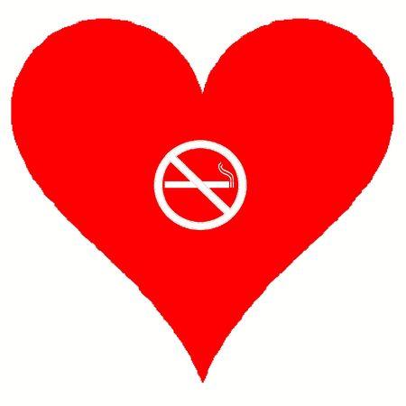No smoking heart
