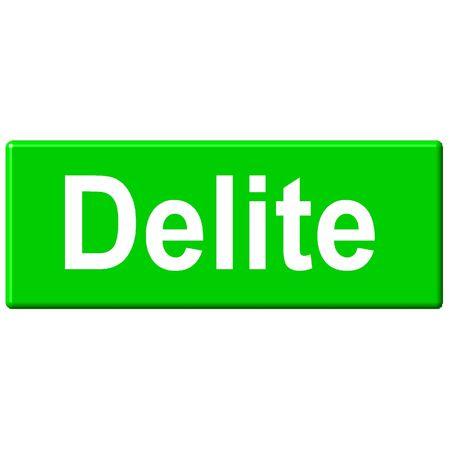 Delite button Reklamní fotografie