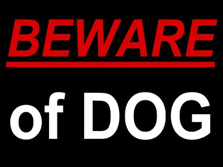 Dog Sign photo