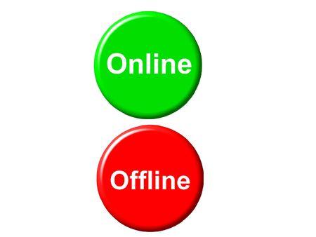Online offline Imagens