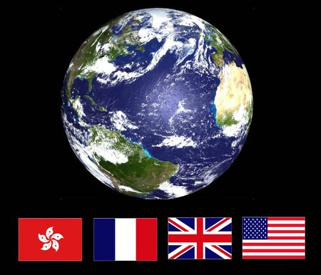 Earth & National Flags