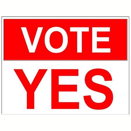 vote: Vote yes Stock Photo