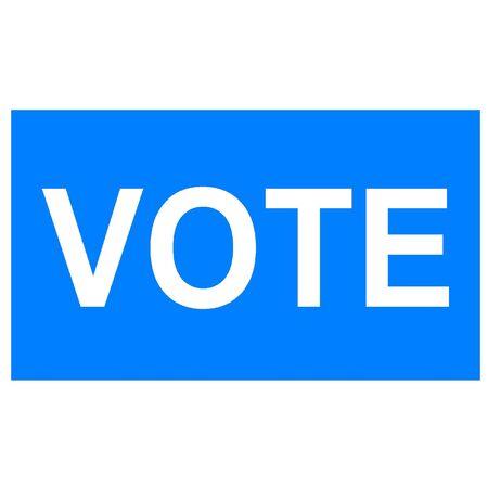青い投票の印 写真素材 - 3174267