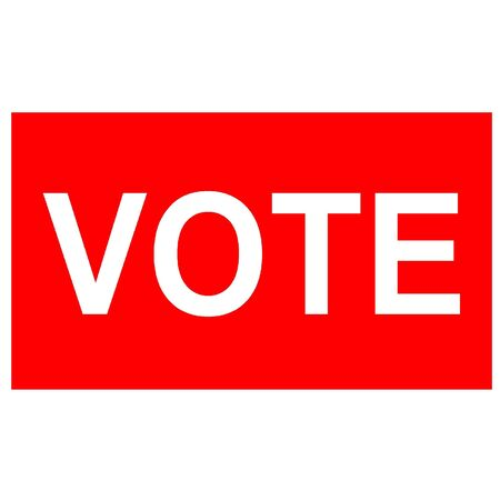 Red voting sign