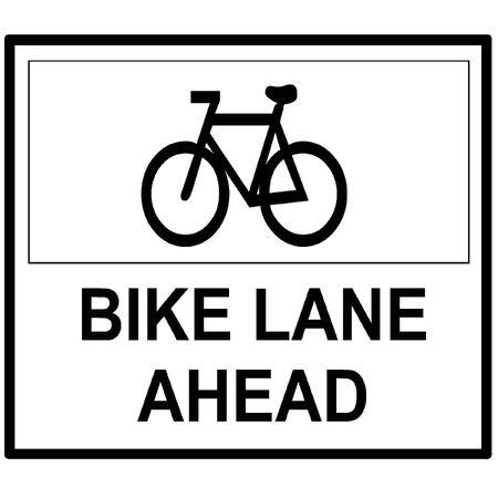 自転車レーン先