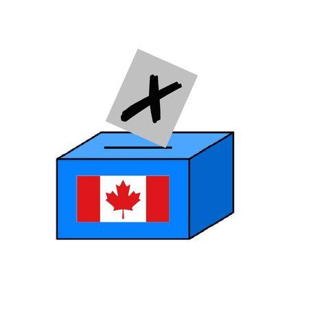 Canadian ballot box Фото со стока