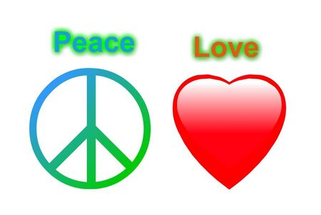 Peace Love Symbols Stock Photo Picture And Royalty Free Image
