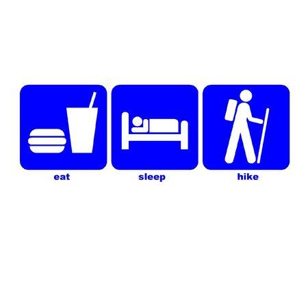 Eat sleep hike