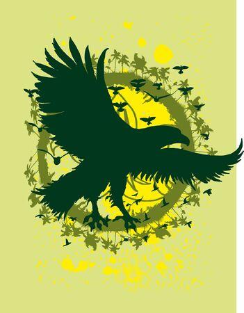 palm wreath: tribal eagle