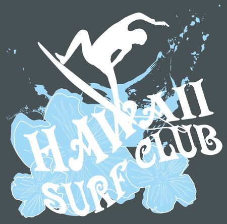 pacific surfer champion club graphic design Stock Vector - 16753631