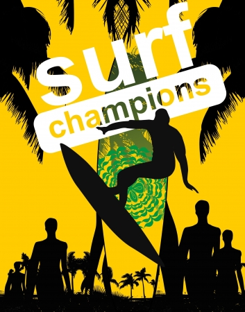 pacific surfer champion club graphic design Stock Vector - 16753635
