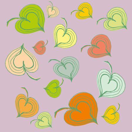 hand draw tribal art ornament on green leaf Stock Vector - 16753636