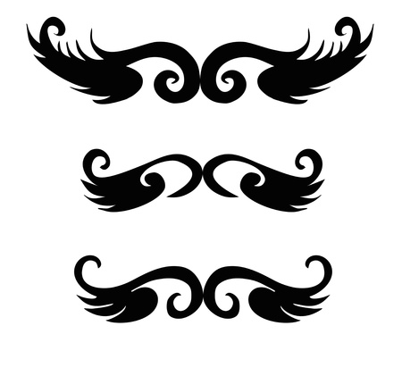 Set of tribal tattoo elements isolated on white Stock Vector - 16753638