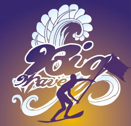 pacific surfer champion club graphic design Stock Vector - 16753682