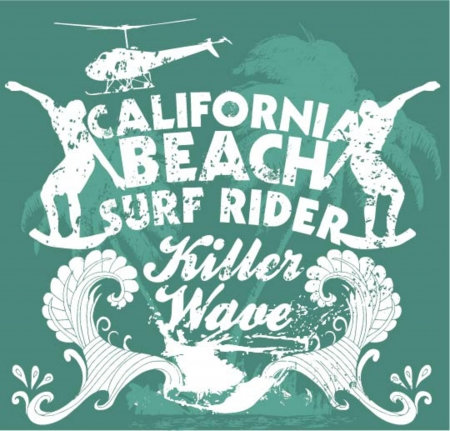 pacific surfer champion club graphic design Vector