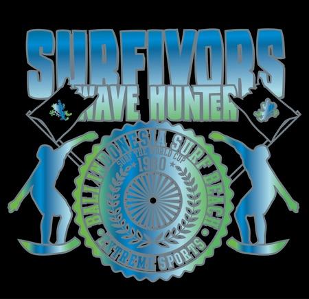 pacific surfer champion club graphic design Stock Vector - 16747773