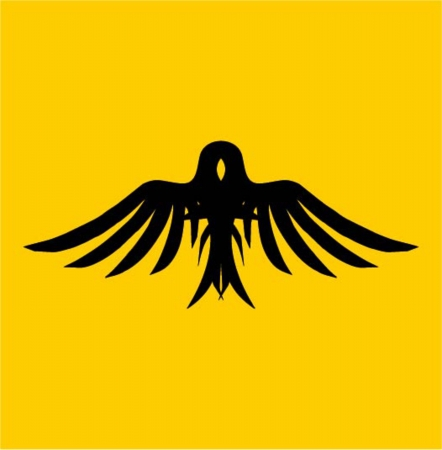 yellow background birds icon vector art Vector