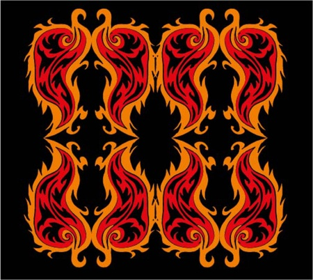 black background fire tribal vector art Stock Vector - 19352751