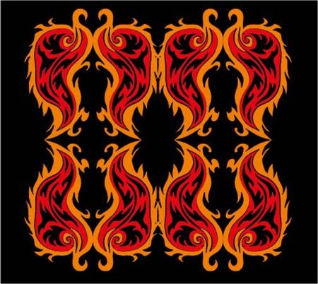 black background fire tribal vector art Stock Vector - 19352751