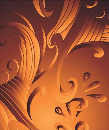 metalic background: metalic background tribal wave vector art Illustration