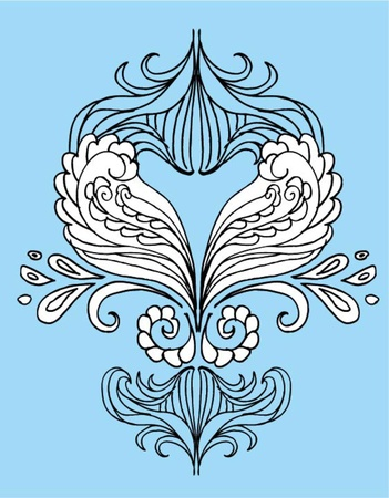 blue backgrounds tribal wave vector art Vector
