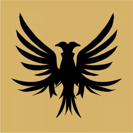 signmaker: tattoo tribal black eagle vector art