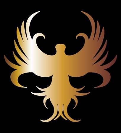 swoop: fondo negro del arte del vector de oro del le�n