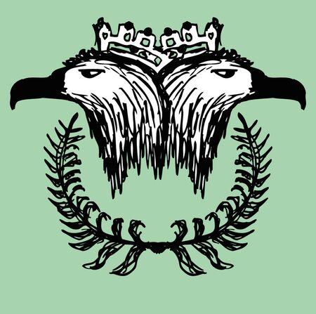 hand drawing eagle head vector art Vector