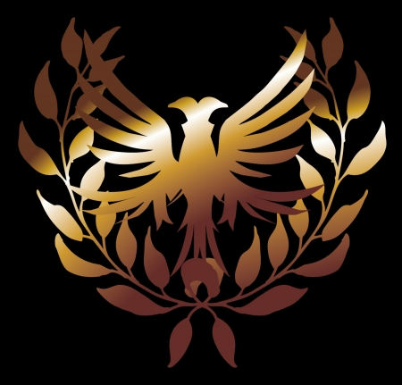 swoop: fondo negro le�n de oro y arte vectorial corona Vectores