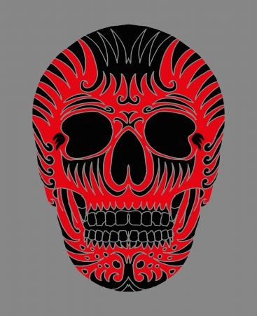 tattoo tribal mexican skull vector art Vector