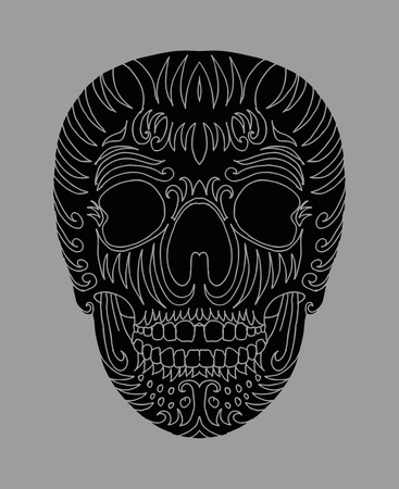 tattoo tribal mexican skull vector art Stock Vector - 19440466