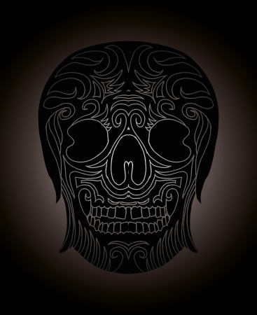 tattoo tribal mexican skull vector art Stock Vector - 19440492