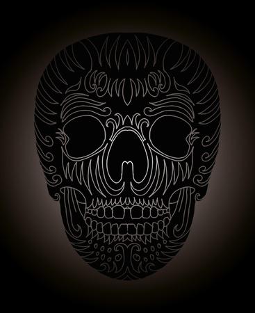 tattoo tribal mexican skull vector art Stock Vector - 19440491