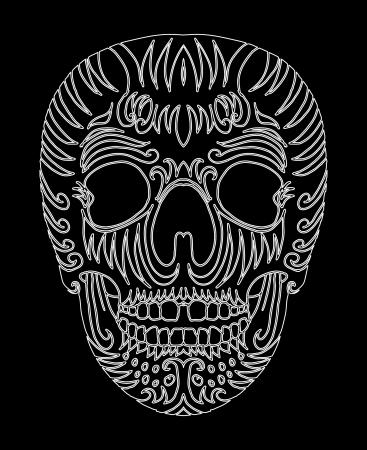 tattoo tribal mexican skull vector art Stock Vector - 19440481