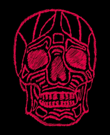 tattoo tribal mexican skull vector art Stock Vector - 19440490
