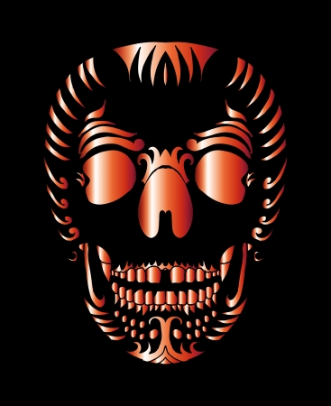tattoo tribal mexican skull vector art Stock Vector - 19440486