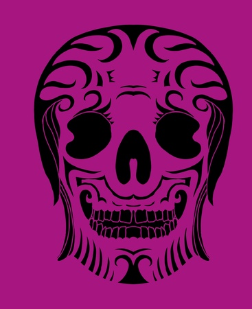 tattoo tribal mexican skull vector art Stock Vector - 19440469